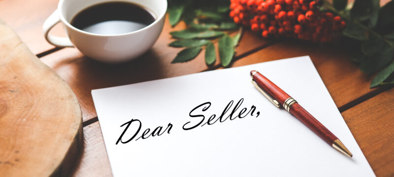 Writing a personal letter to a home seller
