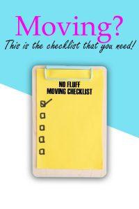 No Fluff Moving Checklist